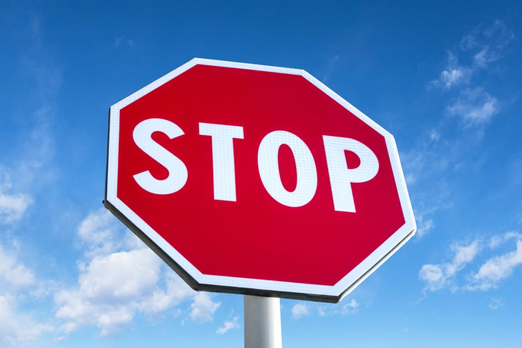 Stop Traffic Sign With Clear Blue Sky 4p4qhh9 Min